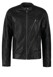 Jack And Jones Jconew Tano Faux Leather Jacket Black