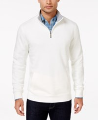 Club Room Men's Quarter Zip Sweater Only At Macy's Winter Ivory