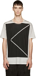 Attachment Grey And Black Printed T Shirt