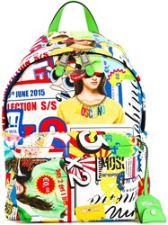 Moschino Collage Backpack Green