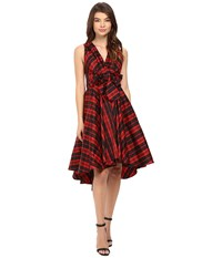 Eva By Eva Franco Libby Dress Red Plaid Women's Dress