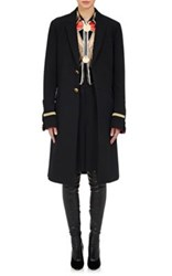 Givenchy Women's Canvas Military Coat Black