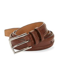 Cole Haan Perforated Leather Belt Tan