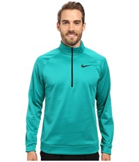 Nike Therma 1 4 Zip Pullover Rio Teal Black Men's Clothing Blue