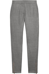 Stella Mccartney Velez Woven Wool Skinny Pants Gray