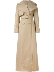 See By Chloe Long Trench Coat Nude And Neutrals