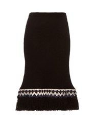 Jupe By Jackie Pareto Wool Knit Skirt Black