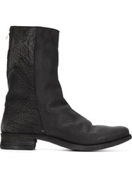 A Diciannoveventitre Side Zip Boots Black