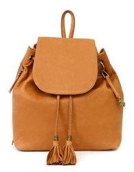 Lucky Brand Nyla Leather Backpack Tobacco