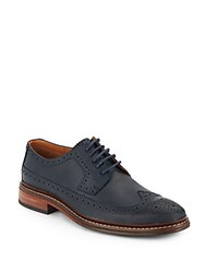 Cole Haan Williams Leather Wingtip Oxfords Blazer Blue