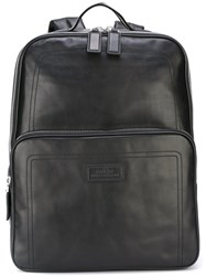 Bally Rectangular Medium Backpack Black