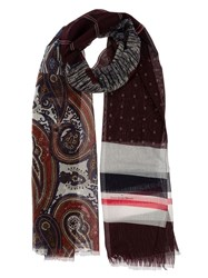 Pierre Louis Mascia Pierre Louis Mascia Printed Scarf Red