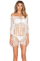Eberjey Spearhead Gianna Cover Up Ivory
