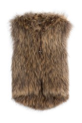 Zadig And Voltaire Fur Vest Beige