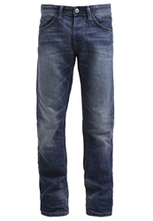 Tom Tailor Denim Atwood Straight Leg Jeans Mid Stone Wash Blue Denim