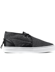 Clear Weather Grey Wool Lakota Mid Top Sneakers