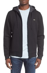 Lacoste Men's Fleece Zip Hoodie Black Dark Grey Jaspe