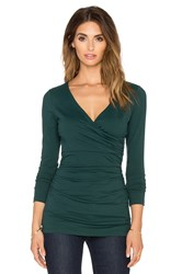 Susana Monaco Modern Wrap Top Green