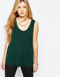 Only Scallop Edge Sleeveless Top Pine Grove