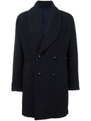 Massimo Piombo Mp Double Breasted Coat Blue