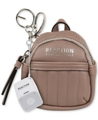 Kenneth Cole Reaction Backpack Keychain With Speaker Pink Mist