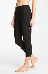 Women's Lysse Ruched Capri Leggings Black