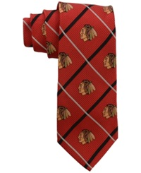 Eagles Wings Chicago Blackhawks Necktie Red