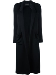 Erika Cavallini Open Front Coat Black