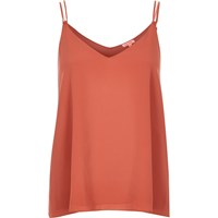 River Island Womens Brown Double Strap Cami