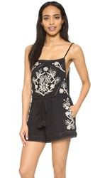 Rory Beca Yser Embroidered Romper Onyx