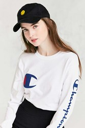 Urban Outfitters Smiley Washed Baseball Hat Black