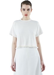 Proenza Schouler Double Face Cropped T Shirt White