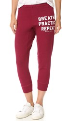 Spiritual Gangster Breathe Practice Repeat Sweatpants Currant