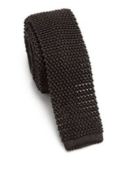 Ralph Lauren Knit Silk Tie Charcoal