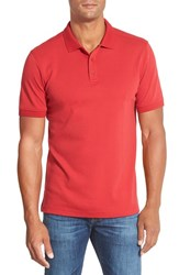 Men's Nordstrom Regular Fit Interlock Knit Polo Red Chili
