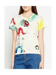 Marc Jacobs Collage Print Classic Tee White