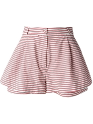 Peter Jensen Striped Shorts Red