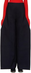 Jacquemus Navy Flat Trousers