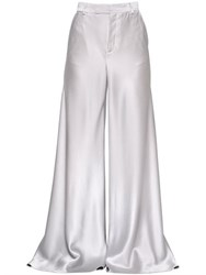Etro High Waisted Flared Satin Pants