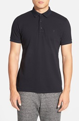French Connection 'Ampthill Park' Slim Fit Texture Polo Marine Blue