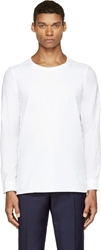 Paul Smith White Cotton And Linen Smock Shirt