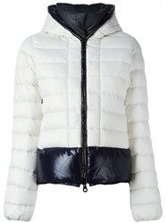 Duvetica Two Tone Hooded Down Jacket White