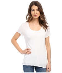 The Beginning Of Cashmere Modal Charlotte Slouchy Tee White Women's T Shirt
