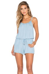 Splendid Chambray Romper Blue