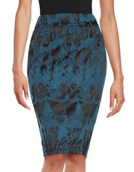 Dex Abstract Jacquard Pencil Skirt