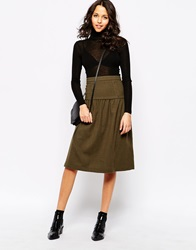 Sessun Natalia Skirt In Khaki