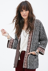 Forever 21 Mixed Tribal Pattern Cardigan