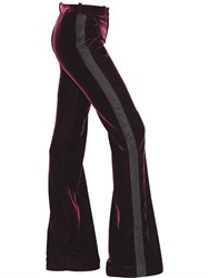 Roberto Cavalli Stretch Velvet Pants With Side Bands