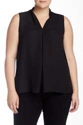 14Th And Union Woven Sleeveless Blouse Plus Size Black