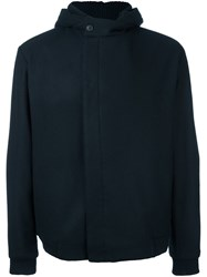 Stephan Schneider Concealed Fastening Hooded Jacket Blue
